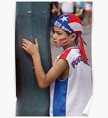 Small Puerto Rican patriot Poster