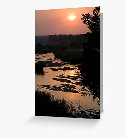 Sunrise Over Sabi River Greeting Card