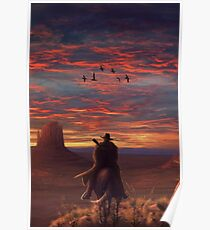 Red Dead Redemption 2 - Horseback at Sunset Poster