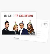 Postales Oh Schitt, es tu cumpleaños, tarjeta de cumpleaños Schitts Creek, tarjetas de felicitación meme