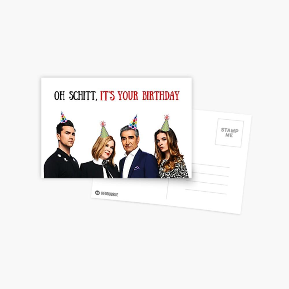 Oh Schitt, es tu cumpleaños, tarjeta de cumpleaños Schitts Creek, tarjetas de felicitación meme Postal