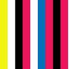 Modern Chunky Colored Stripes by Melissa Park