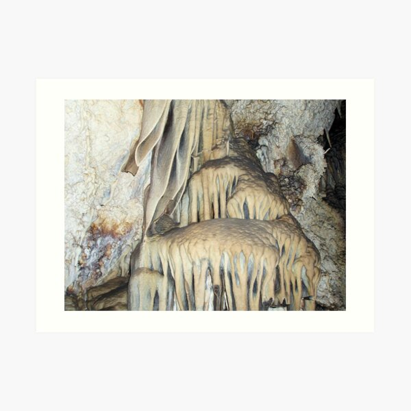 Milky Stalactities Inside Lewis and Clark Caverns  Art Print