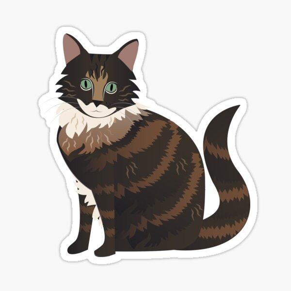 Fluffy Cat Sticker
