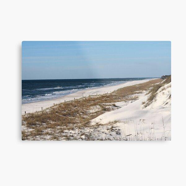 Cape San Blas Shoreline in Florida Metal Print