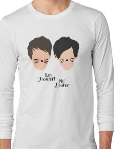Phil Lester and Dan Howell (with text) Long Sleeve T-Shirt