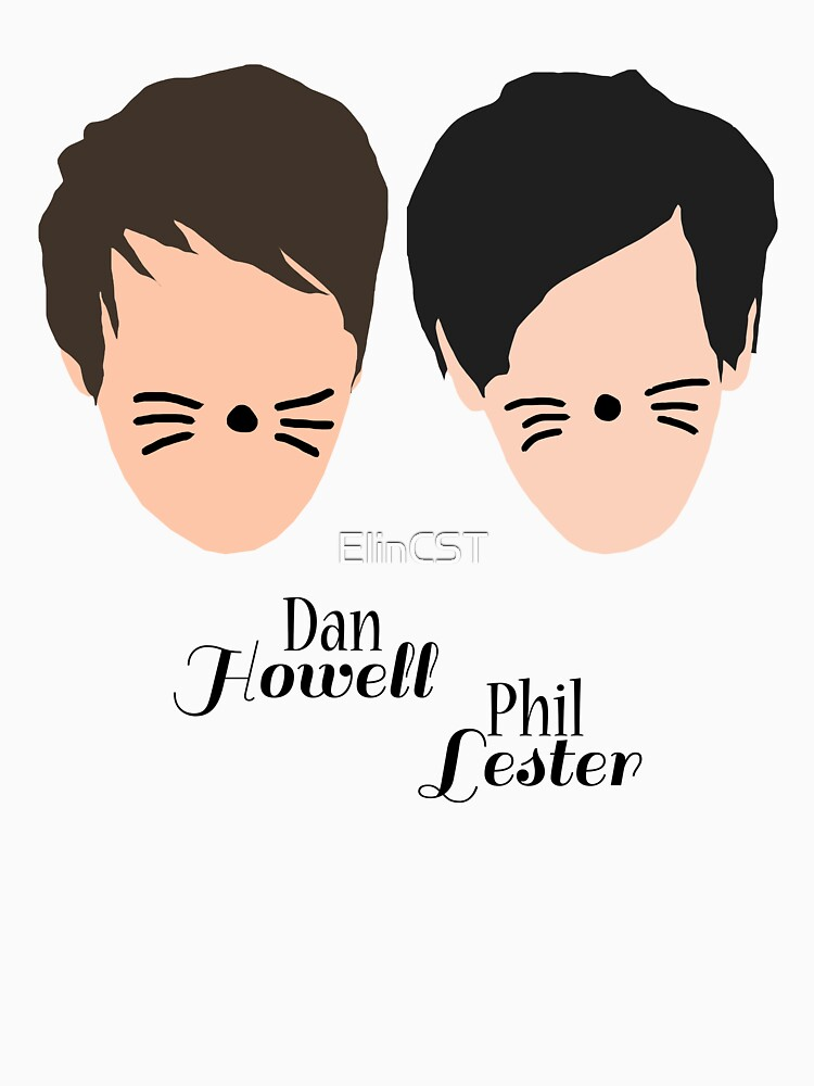 Phil Lester and Dan Howell (with text) | Unisex T-Shirt