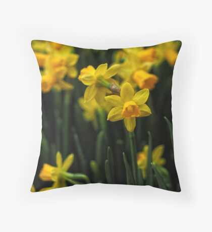 Jolly Jonquils Throw Pillow