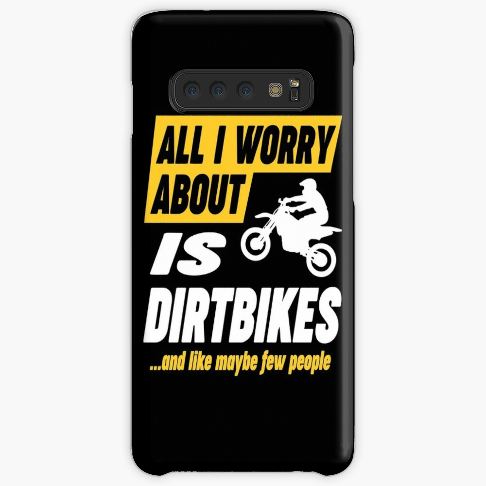 Dirtbike Lovers Worries Funny Quote Case & Skin for Samsung Galaxy