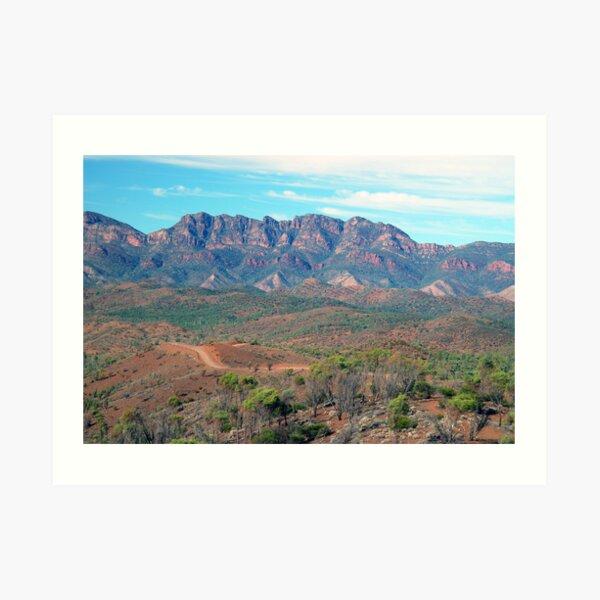 Bunyeroo Valley and Heysen Range , Flinders Ranges, South Australia Art Print