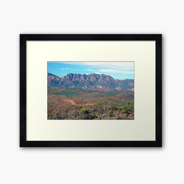 Bunyeroo Valley and Heysen Range , Flinders Ranges, South Australia Framed Art Print