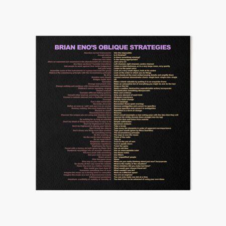 Brian Eno's Oblique Strategies Art Board Print