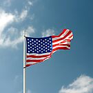 Flying American Flag by Jeff Hathaway