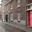 Red doors Maastricht, Netherlands by Jeff Hathaway