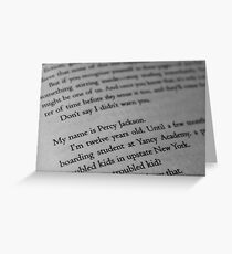 My name is Percy Jackson. Greeting Card