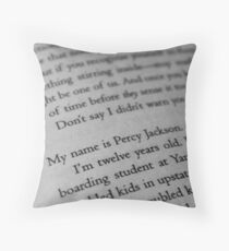 My name is Percy Jackson. Throw Pillow