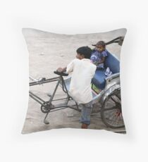 youngest onboard. Throw Pillow