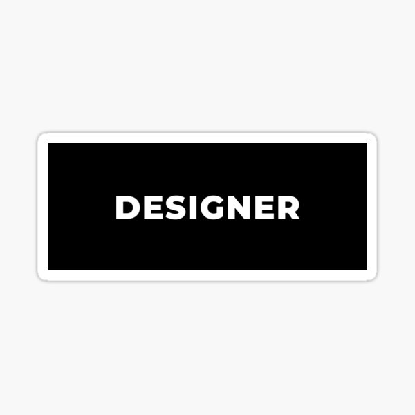 Designer Sticker