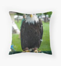 Eagle from wildlife Images Throw Pillow