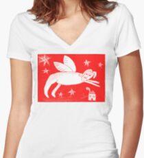 Digital Angel Women's Fitted V-Neck T-Shirt