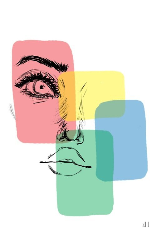 Multi-Coloured Face by d l