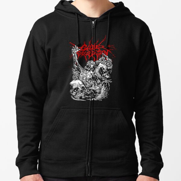 Cattle Decapitation Design Zipped Hoodie