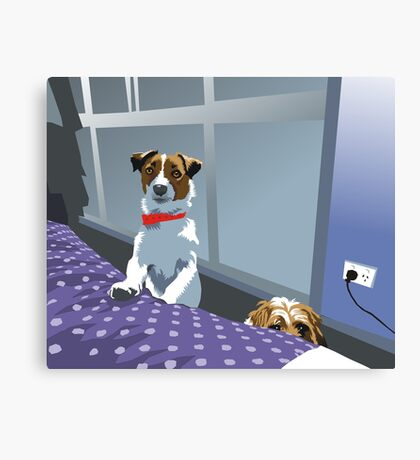 so ... are we allowed on the bed or not?! Canvas Print