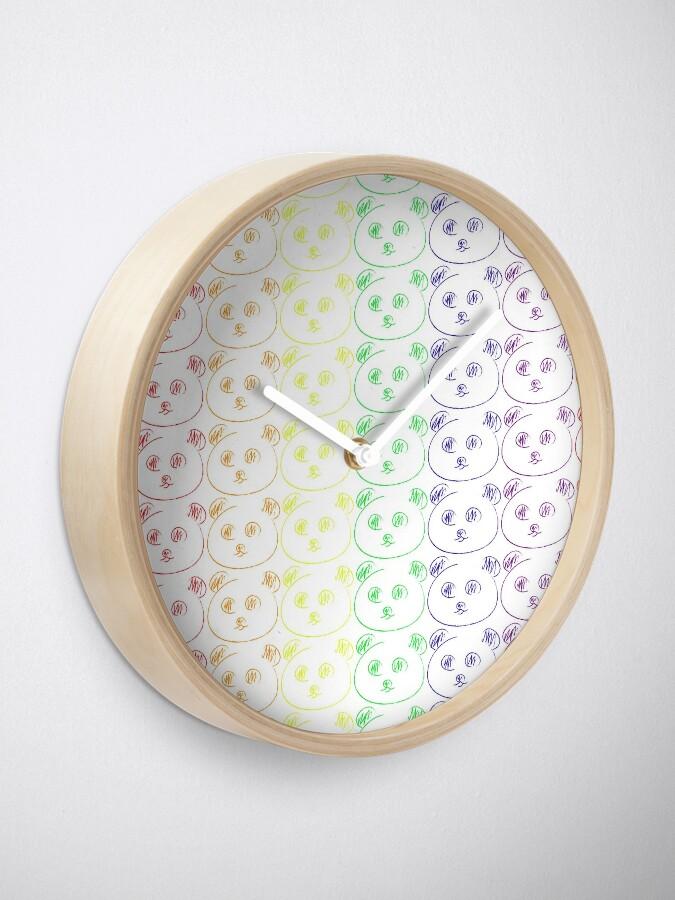 Alternative Ansicht von Panda Regenbogen Uhr