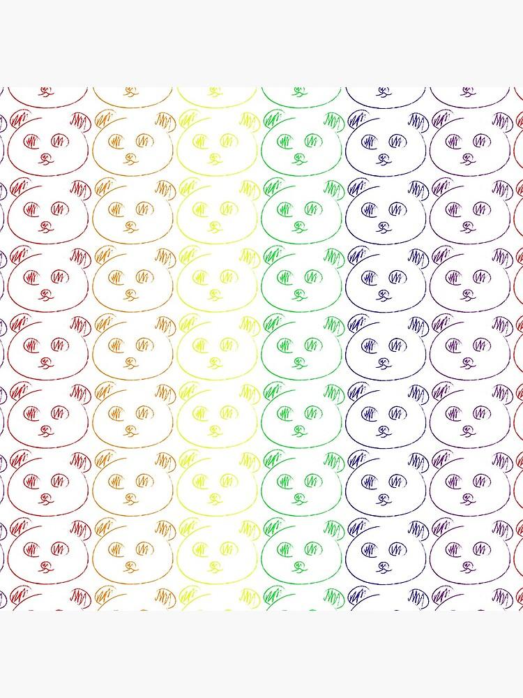 Panda Regenbogen von setzuburuya