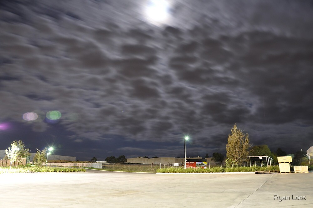 Once in a blue moon... at the loading bay by Ryan Loos