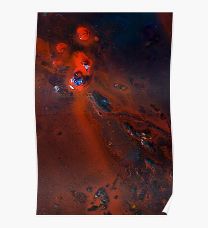 Bright Red Erosion Poster
