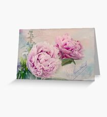Jane's Peonies Greeting Card