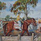 Henry on horse by scallyart