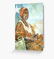 Harmony - Somali Lady in Katanning Greeting Card