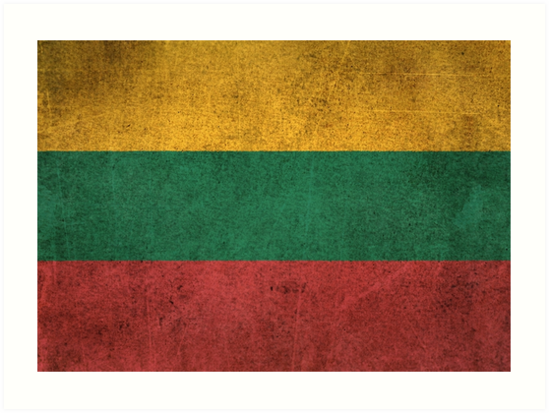 Old and Worn Distressed Vintage Flag of Lithuania by jeff bartels