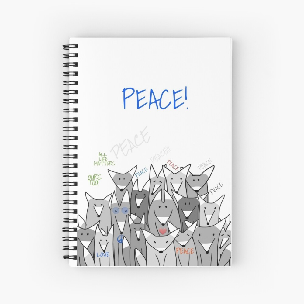Happy Birthday! Peace! Spiral Notebook