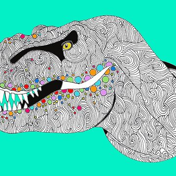 Colorful T Rex by Surrealist1