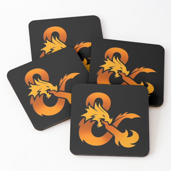 Dungeons and Dragons (Orange) Coasters (Set of 4)