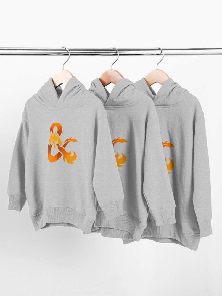 Alternate view of Dungeons & Dragons (Orange) Toddler Pullover Hoodie