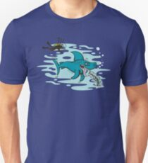 Disgusted Shark Slim Fit T-Shirt
