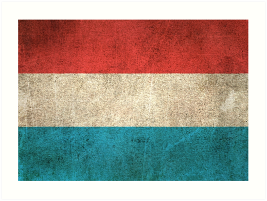 Old and Worn Distressed Vintage Flag of Luxembourg by jeff bartels