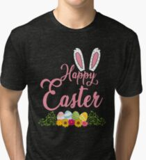 Frohe Ostern Osterhase Ostereier Vintage T-Shirt