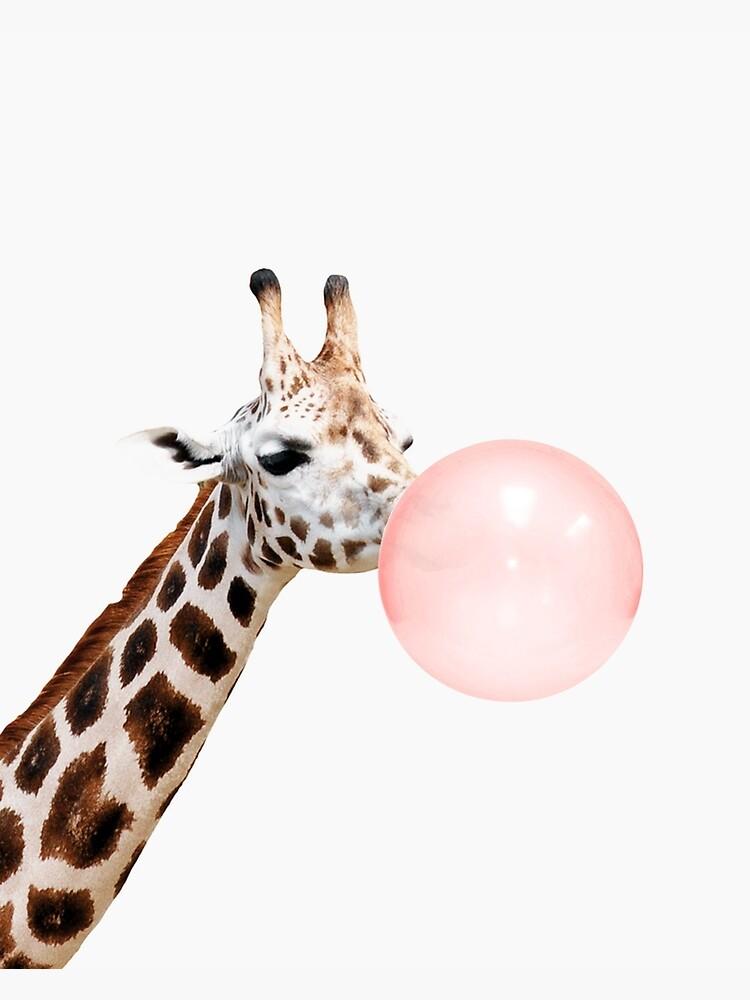 Giraffe print, Bubble gum, Nursery art, Giraffe wall art, Animal, Kids room, Modern art, Wall decor by juliaemelian