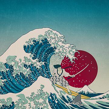Siente la ola_samurai y el tiburón de nickmanofredda