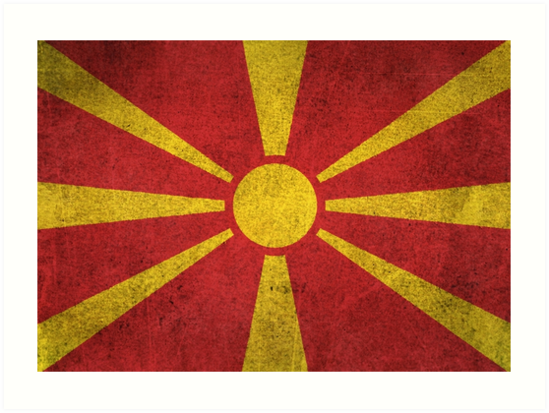 Old and Worn Distressed Vintage Flag of Macedonia by jeff bartels