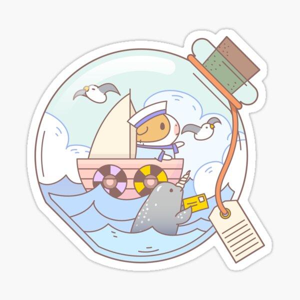 Bubu the Guinea pig, A jar of adventure  Sticker