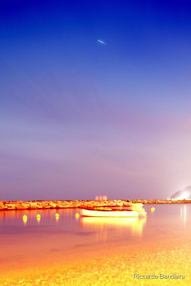 night at the sea by Riccardo Bandiera