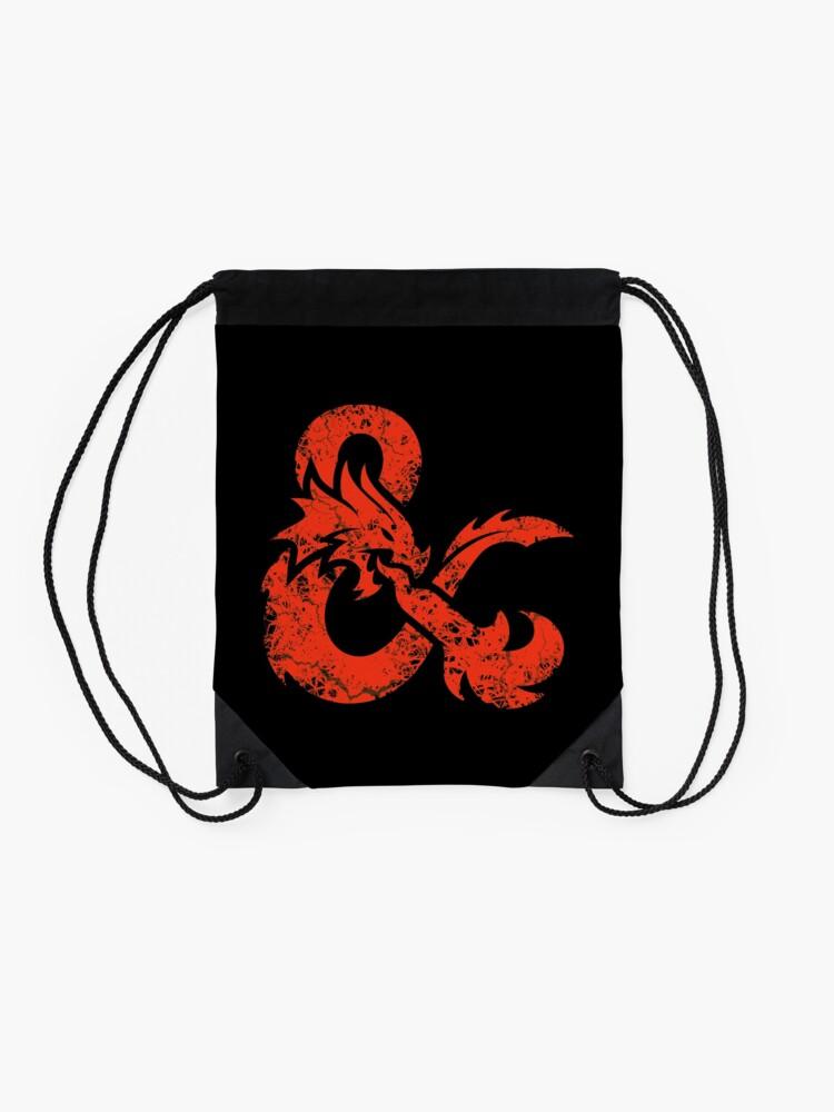 Alternate view of Dungeons & Dragons (Red) Drawstring Bag