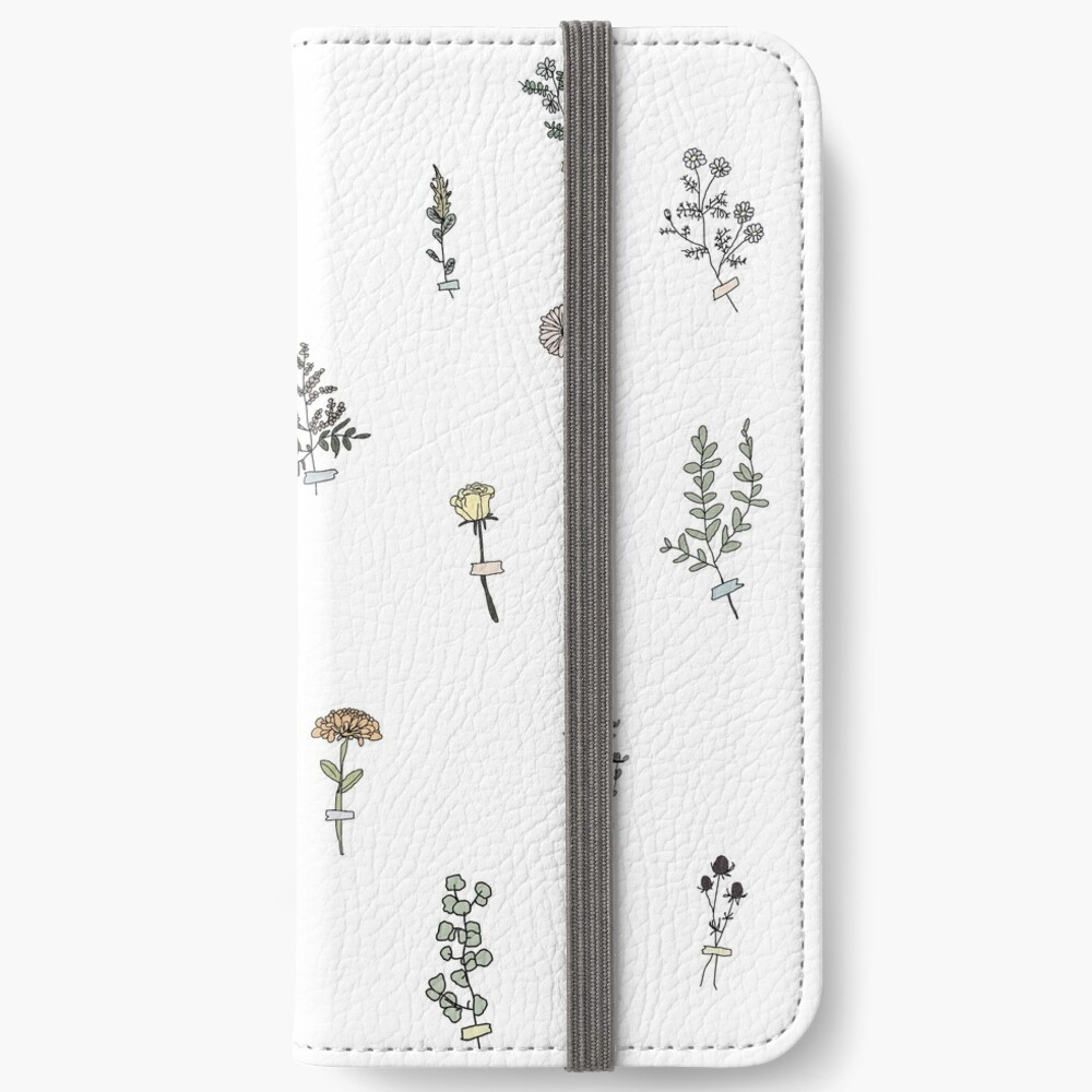 Tiny Flower Set iPhone Wallet