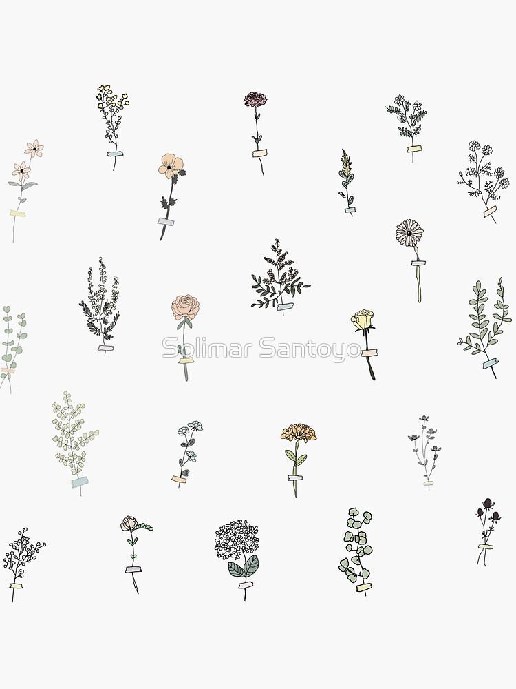 Tiny Flower Set by solisantoyo